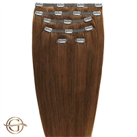 Clip on hair extensions #12 Lysebrun - 7 sett - 50 cm | Gold24