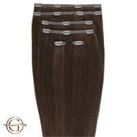 Clip on hair extensions #33 Rødbrun - 7 sett - 50 cm | Gold24