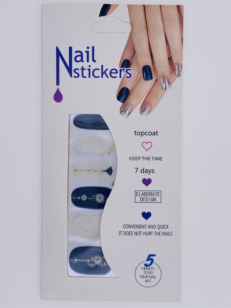 Nail Stickers - Nail Wrap 12 stk. no. 12