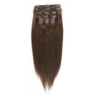 Clip On Hair Extensions 65 cm 4# Sjokoladebrun