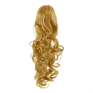 Pony Tail Fiber Extensions Curly Gyllenblond 27#