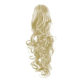 Pony Tail Fiber Extensions Curly Lys Blond 60#