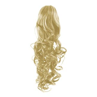 Pony Tail Fiber Extensions Curly Blond 613#