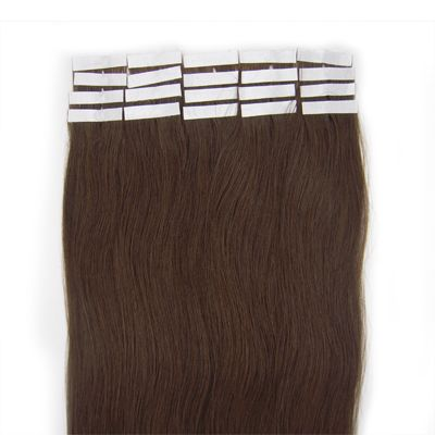 50 cm tape-on extensions Brun 4#
