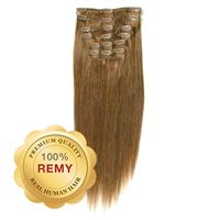 Clip On Hair Extensions 40 cm #12 Lysebrun