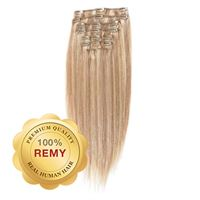 Clip On Hair Extensions 40 cm #18/613 Blond Mix