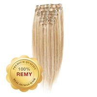 Clip On Hair Extensions 40 cm #27/613 Lys Blond Mix