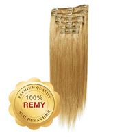 Clip On Hair Extensions 40 cm #27 Gyllenblond