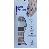 Nail Stickers - Nail Wrap 12 stk. no. 07