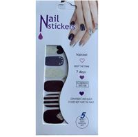 Nail Stickers - Nail Wrap 12 stk. no. 09