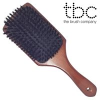 TBC® Paddle Boar Bristle Brush med ekte svinehår