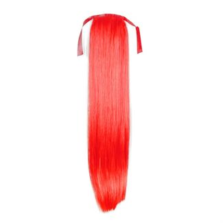 Pony tail Fiber extensions Straight Total Red
