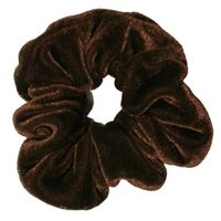 Scrunchie Cotton Hårstrikk - Brun