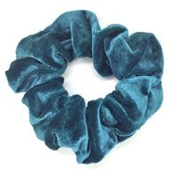 Scrunchie Cotton Hårstrikk - Dark Mint