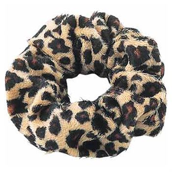 Scrunchie Cotton Hårstrikk - Leopard