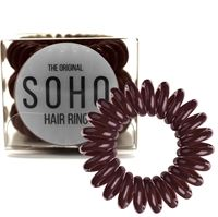 SOHO® Spiral Hårstrikker, CHOCOLATE BROWN - 3 stk