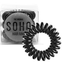 SOHO® Spiral Hårstrikker, ALL BLACK - 3 stk