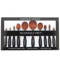 Technique PRO®  Ovale makeup børster - 10 set